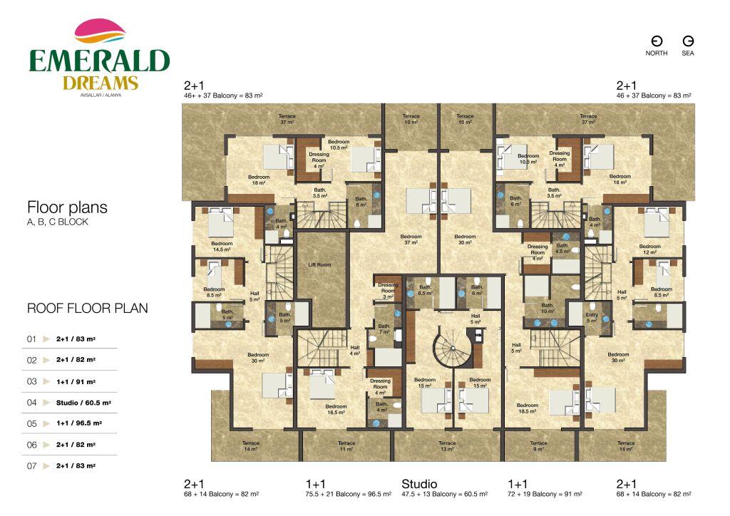 Emerald dreams alanya floor plans for Emerald homes floor plans